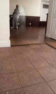 ghost caught on camera in mirror